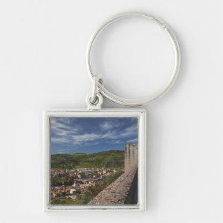 Italy, Sardinia, Bosa. Town view from Castello Keychain