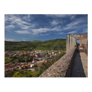 Italy, Sardinia, Bosa. Town view from Castello Postcard