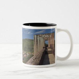 Italy, Sardinia, Bosa. Town view from Castello Two-Tone Coffee Mug