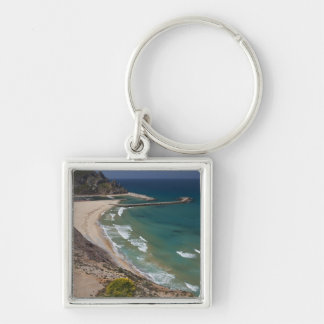 Italy, Sardinia, Buggerru. Buggerru beach and Keychain