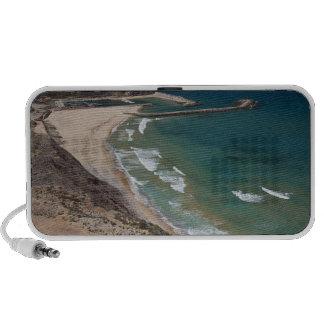 Italy, Sardinia, Buggerru. Buggerru beach and PC Speakers