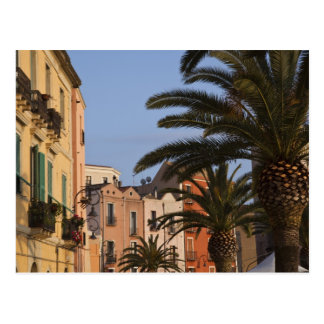 Italy, Sardinia, Cagliari. Buildings and palms Postcard