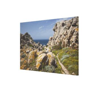 Italy, Sardinia, Santa Teresa Gallura. Capo 2 Canvas Print