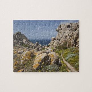 Italy, Sardinia, Santa Teresa Gallura. Capo 2 Jigsaw Puzzle