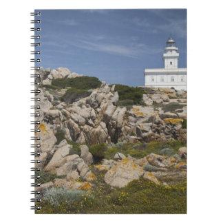 Italy, Sardinia, Santa Teresa Gallura. Capo Spiral Notebook