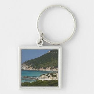 Italy, Sardinia, Solanas. Beach. Keychain