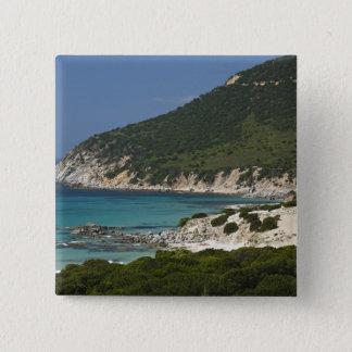 Italy, Sardinia, Solanas. Beach. Pinback Button