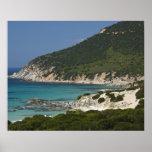 Italy, Sardinia, Solanas. Beach. Posters