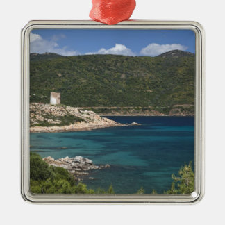 Italy, Sardinia, Teulada. Spanish tower. Metal Ornament