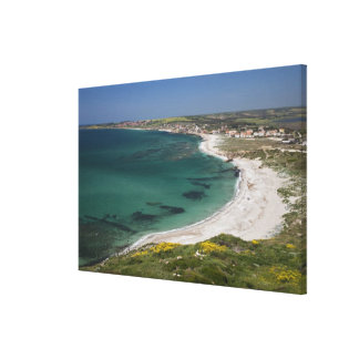 Italy, Sardinia, Tharros. View from the Gallery Wrap Canvas