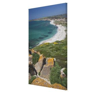 Italy, Sardinia, Tharros. View from the Spanish Canvas Print