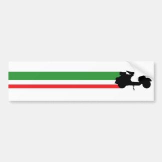 Italy Scooter streaks Car Bumper Sticker