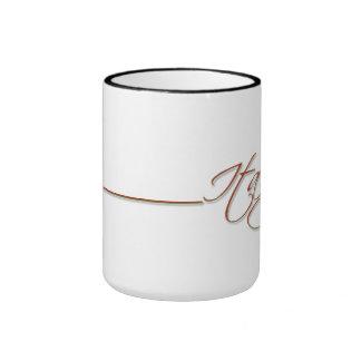 Italy script design ringer mug