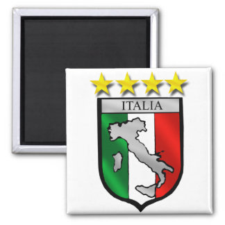 italy shield Italy flag italia map 2 Inch Square Magnet