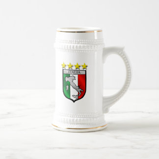 italy shield Italy flag italia map Beer Stein