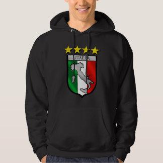 italy shield Italy flag italia map Hooded Pullover