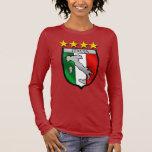 italy shield Italy flag italia map Long Sleeve T-Shirt