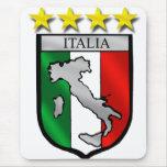 italy shield Italy flag italia map Mouse Pad