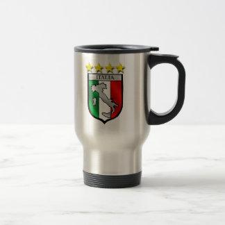 italy shield Italy flag italia map 15 Oz Stainless Steel Travel Mug