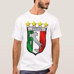 italy shield Italy flag italia map T-Shirt