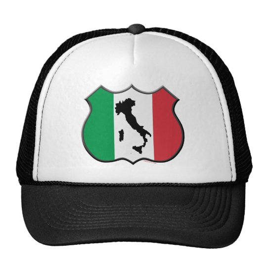 Italy Shield Map Hat