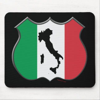 Italy Shield Map Mousepad