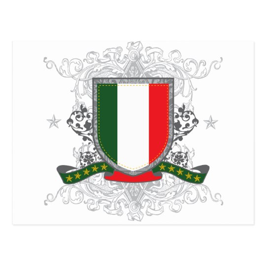 Italy Shield Postcard