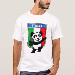 Men's Basic T-Shirt with Italian Shot Put Panda design