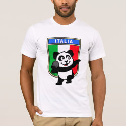 Men's Basic American Apparel T-Shirt with Italian Shot Put Panda design