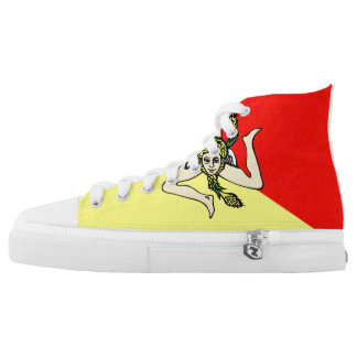 italy sicilia flag sicily symbol High-Top sneakers