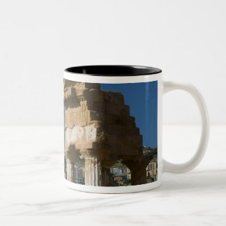 Italy, Sicily, Agrigento, La Valle dei Templi, 2 Two-Tone Coffee Mug
