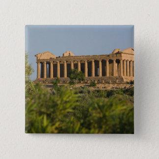 Italy, Sicily, Agrigento, La Valle dei Templi, 4 Pinback Button