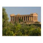 Italy, Sicily, Agrigento, La Valle dei Templi, 4 Post Cards