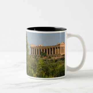 Italy, Sicily, Agrigento, La Valle dei Templi, 4 Two-Tone Coffee Mug