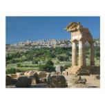 Italy, Sicily, Agrigento, La Valle dei Templi, Post Card