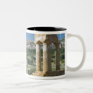 Italy, Sicily, Agrigento, La Valle dei Templi, Two-Tone Coffee Mug
