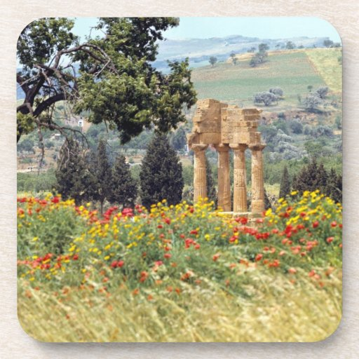 Italy, Sicily, Agrigento. The ruins of the Beverage Coaster