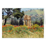 Italy, Sicily, Agrigento. The ruins of the Card