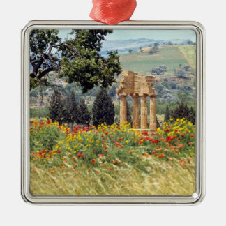 Italy, Sicily, Agrigento. The ruins of the Christmas Ornament
