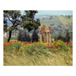 Italy, Sicily, Agrigento. The ruins of the Poster