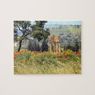 Italy, Sicily, Agrigento. The ruins of the Jigsaw Puzzles