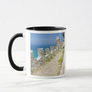 Italy, Sicily, Cefalu, Cliffside Walkway, La Mug