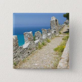 Italy, Sicily, Cefalu, Cliffside Walkway, La Pinback Button