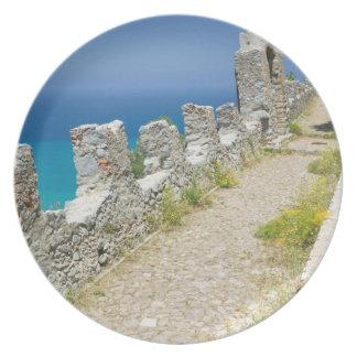 Italy, Sicily, Cefalu, Cliffside Walkway, La Plate