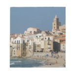Italy, Sicily, Cefalu, Town View with Duomo from Memo Note Pad