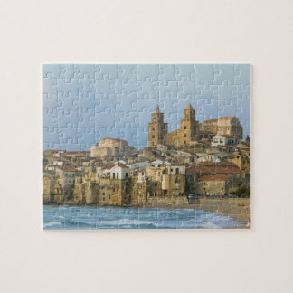 Italy, Sicily, Cefalu, View with Duomo from 2 Jigsaw Puzzle