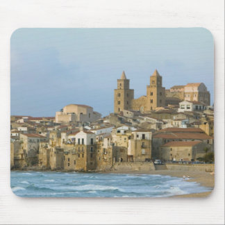 Italy Sicily Cefalu View with Duomo from 2 Mousepad
