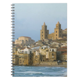 Italy Sicily Cefalu View with Duomo from 2 Notebooks