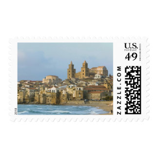Italy, Sicily, Cefalu, View with Duomo from 2 Postage