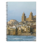 Italy, Sicily, Cefalu, View with Duomo from 2 Spiral Notebook